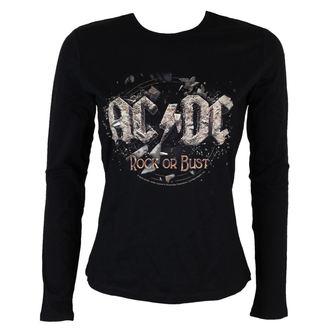 tričko dámske s dlhým rukávom AC/DC - Rock or Bust - BLK - LOW FREQUENCY - ACGLS05003