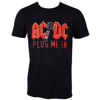 tričko pánske AC/DC - Plug me in with Angus Young - BLK - LOW FREQUENCY, LOW FREQUENCY, AC-DC