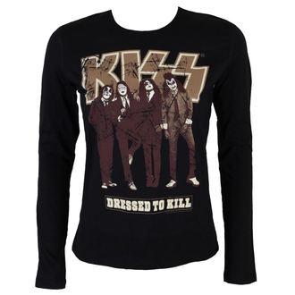 tričko dámske s dlhým rukávom KISS - Dressed to Kill - BLK - LOW FREQUENCY, LOW FREQUENCY, Kiss