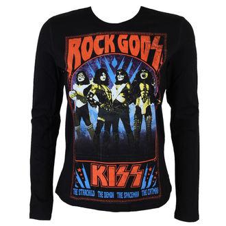 tričko dámske s dlhým rukávom KISS - Rock goods - BLK - LOW FREQUENCY, LOW FREQUENCY, Kiss