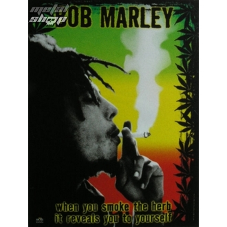 vlajka Bob Marley - Hrebeň, HEART ROCK, Bob Marley