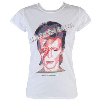 tričko dámske David Bowie - Aladdin Sane - White - ROCK OFF, ROCK OFF, David Bowie