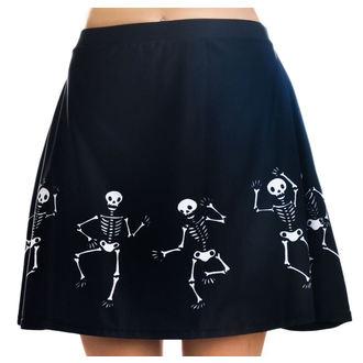 sukňa dámska TOO FAST - Strode - Dancing Skeletons, TOO FAST