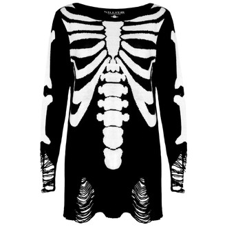 sveter (unisex) KILLSTAR - Skeletor - Black, KILLSTAR