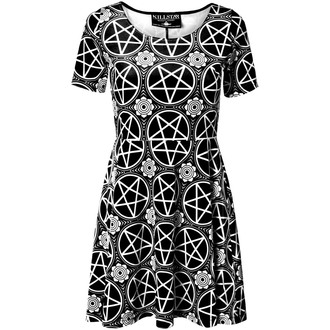 šaty dámske KILLSTAR - Pentagram Velvet - Black - KIL052