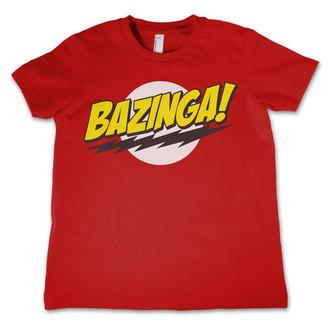 tričko detské Teória veľkého tresku - Bazinga Super Logo - Red - HYBRIS, HYBRIS
