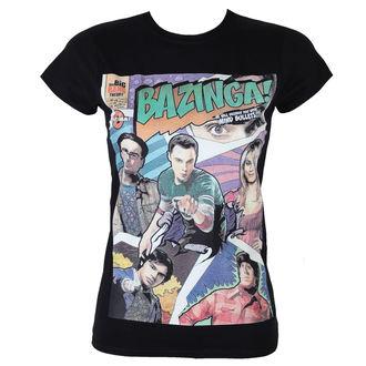 tričko dámske Teória veľkého tresku - Bazinga Comic Cover - Black - HYBRIS, HYBRIS