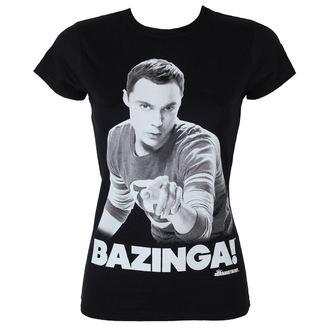 tričko dámske Teória veľkého tresku - Sheldon Says Bazinga - Black - HYBRIS