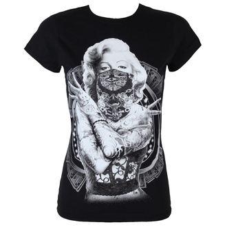 tričko dámske Marilyn Monroe - Outlaw - Black - HYBRIS, HYBRIS