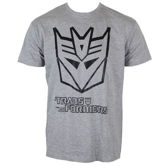 tričko pánske Transformers - Decepticonmi Logo - H. Grey - HYBRIS
