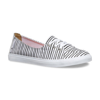 topánky dámske VANS - Palisades (Just Stripes) - True White / BLK, VANS