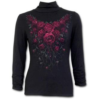 tričko dámske s dlhým rukávom SPIRAL - Blood Rose - K018F452
