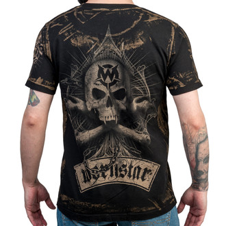 tričko pánske WORNSTAR - spines - Black, WORNSTAR