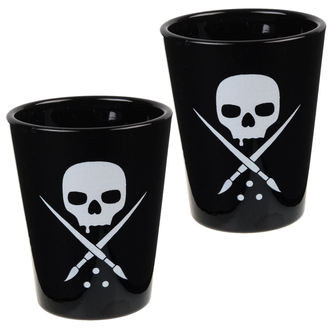 panáky SULLEN (set) - Black - Skull, SULLEN