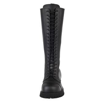 topánky NEVERMIND - 20 dierkové - Vegan - Black Synthetic, NEVERMIND