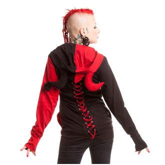 mikina dámska POIZEN INDUSTRIES - Jester - Black / Red, CUPCAKE CULT
