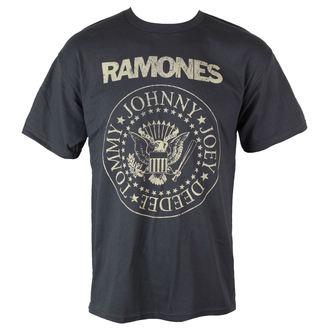 tričko pánske Ramones - Distress Crest - Char - BRAVADO, BRAVADO, Ramones