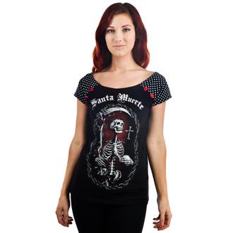 tričko dámske TOO FAST - SANTA MUERTE - Black - WTBO-T-SANTA