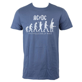 tričko pánske AC/DC - Evolution Of Rock - Heather Blue - LIVE NATION, LIVE NATION, AC-DC