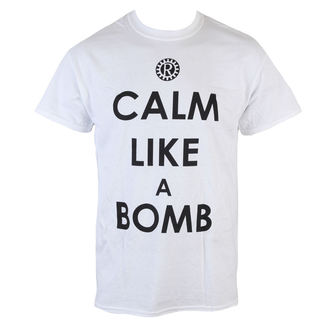 tričko pánske Rage Against The Machine - Calm like a bomby - White - LIVE NATION, LIVE NATION, Rage against the machine
