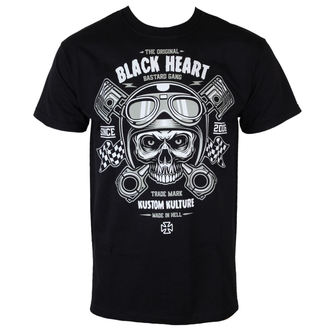 tričko pánske BLACK HEART - Piston Skull - BLK - BH151