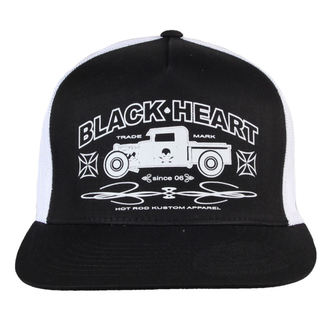 šiltovka BLACK HEART - Pick Up - BLK/WHT, BLACK HEART