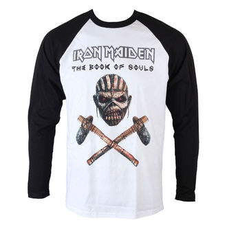 tričko pánske s dlhým rukávom Iron Maiden - Axe - Raglan Baseball - ROCK OFF, ROCK OFF, Iron Maiden