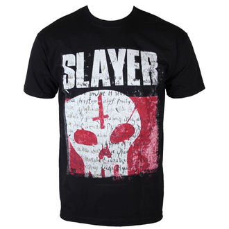 tričko pánske Slayer - Undisputed Attitude Skull - BLK - ROCK OFF, ROCK OFF, Slayer