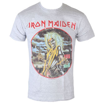 tričko pánske Iron Maiden - Killers - Cirlcle - Heather - ROCK OFF, ROCK OFF, Iron Maiden