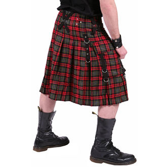 kilt pánsky DEAD THREADS - Red / Grey, DEAD THREADS