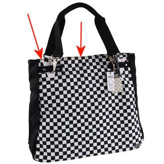 kabelka , taška VANS - Chk should Bag - Black/White - POŠKODENÁ, VANS