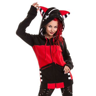 mikina dámska POIZEN INDUSTRIES - Star Kitty - Black / Red, BYE BYE KITTY