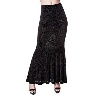 sukňa dámska KILLSTAR - Burn Baby Maxi - Black, KILLSTAR