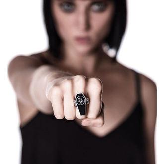 prsteň KILLSTAR - Deep Sleep Coffin - Silver, KILLSTAR