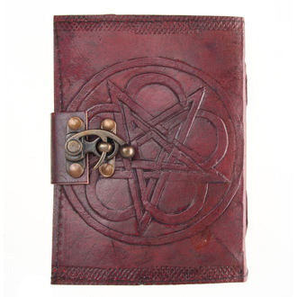 poznámkový blok Pentagram Leather Embossed Journal & Lock - NENOW, NNM