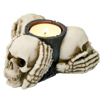 svietnik (dekorácia) Three Múdry Skulls - NENOW, Nemesis now