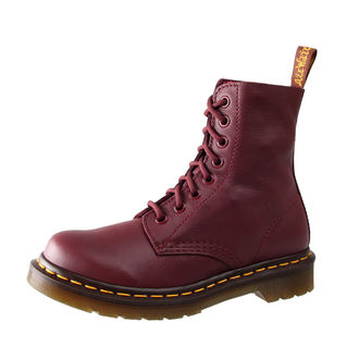 topánky Dr. Martens - 8 dierkové - Pascal Cherry Red Virginie, Dr. Martens