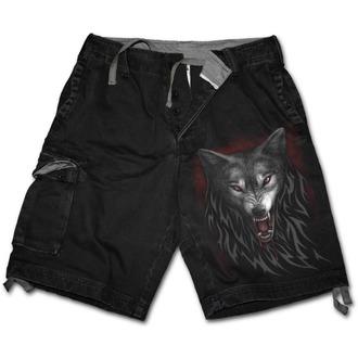 kraťasy SPIRAL - Legiend of the Wolves - Black, SPIRAL