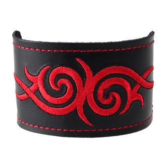 náramok Tribal - Red, BLACK & METAL