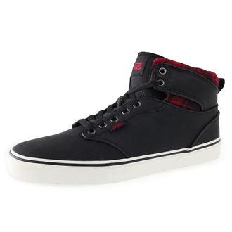 topánky pánske VANS - Atwood HI (Flannel) - Black, VANS