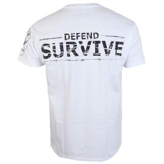 tričko pánske ALISTAR - Zombie Survive - white, ALISTAR