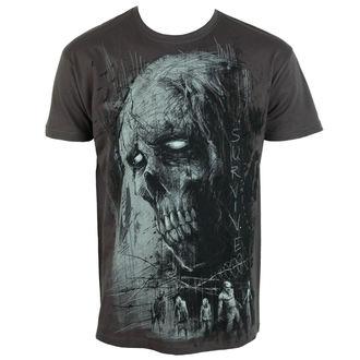 tričko pánske ALISTAR - Zombie Survive - grey, ALISTAR