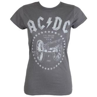 tričko pánske AC/DC - FTA2R - Charcoal - LIVE NATION, LIVE NATION, AC-DC