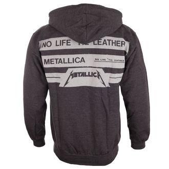 mikina pánska Metallica - No Life Till Leather - Charcoal, Metallica