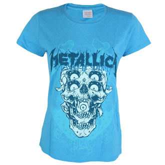 tričko dámske Metallica - Double Skull - Heather Sapphire - ATMOSPHERE, Metallica