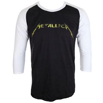 tričko pánske s 3/4 rukávom Metallica - Justice Black/White Baseball - ATMOSPHERE
