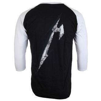 tričko pánske s 3/4 rukávom Metallica - Justice Black/White Baseball - ATMOSPHERE, NNM, Metallica