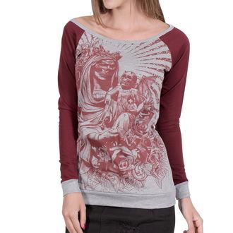 tričko dámske s dlhým rukávom HYRAW - Black Santa, HYRAW