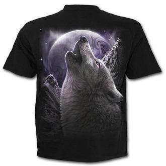 tričko pánske SPIRAL - WOLF SOUL - Black - T133M101
