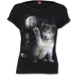 tričko dámske SPIRAL - WOLF PUPPY - Black - F032F744